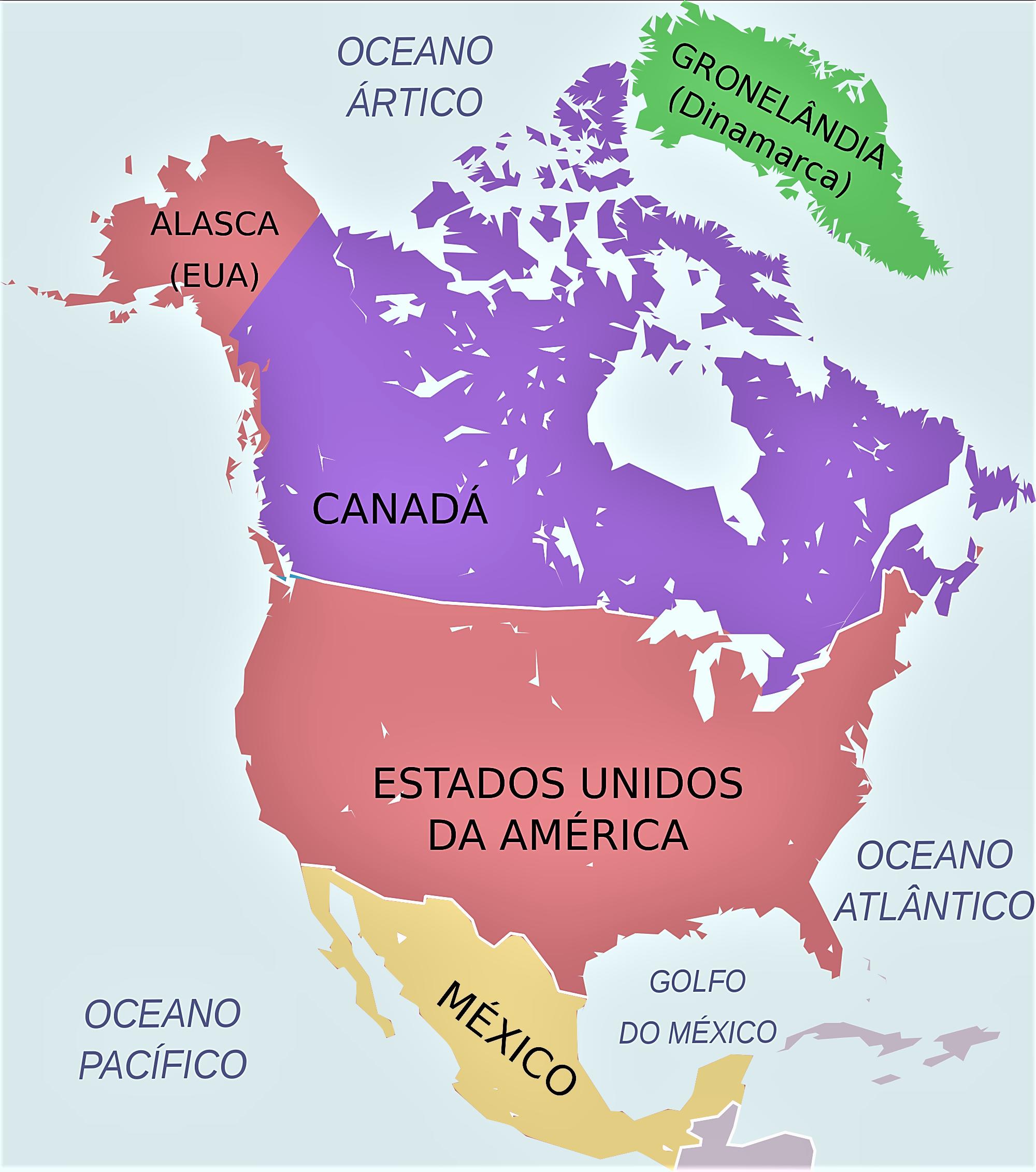 Mapa Politico De America Del Norte.Mapa De America Del Norte Mapas Norteamerica