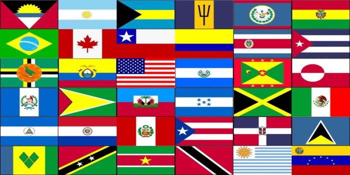 Mapa De América Para Imprimir Político Físico Mudo Con Nombres Países