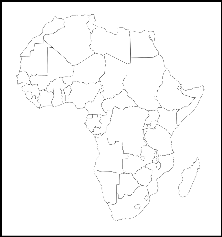 ▷ Mapa de África para imprimir | Político | Físico | Mudo ...