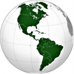 mapa america globo