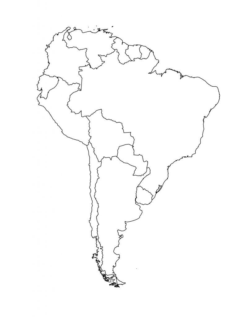 mapa sudamerica en blanco
