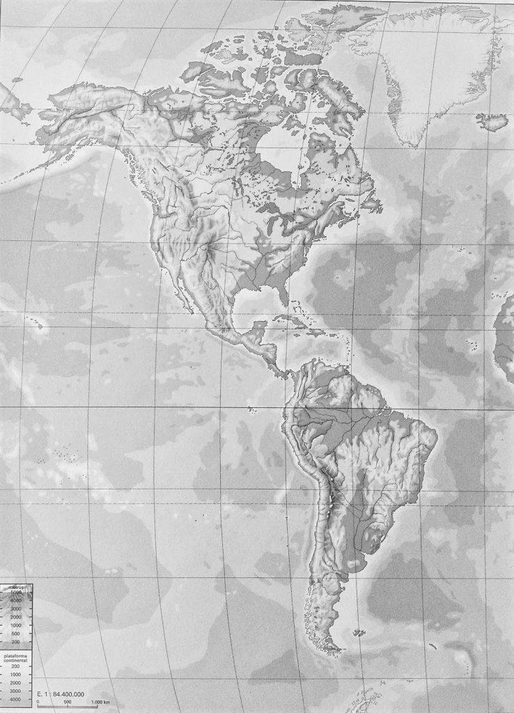 mapa mundi fisico america mudo
