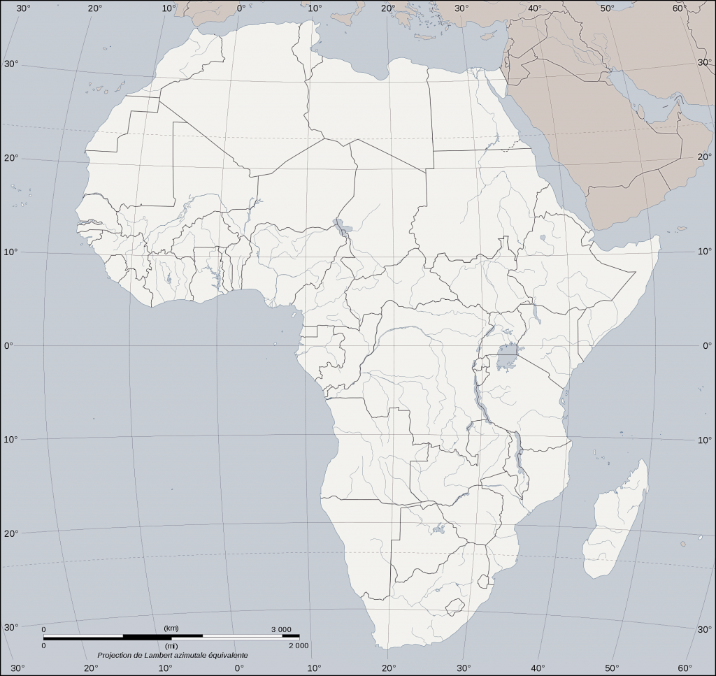 mapa africa mudo para imprimir