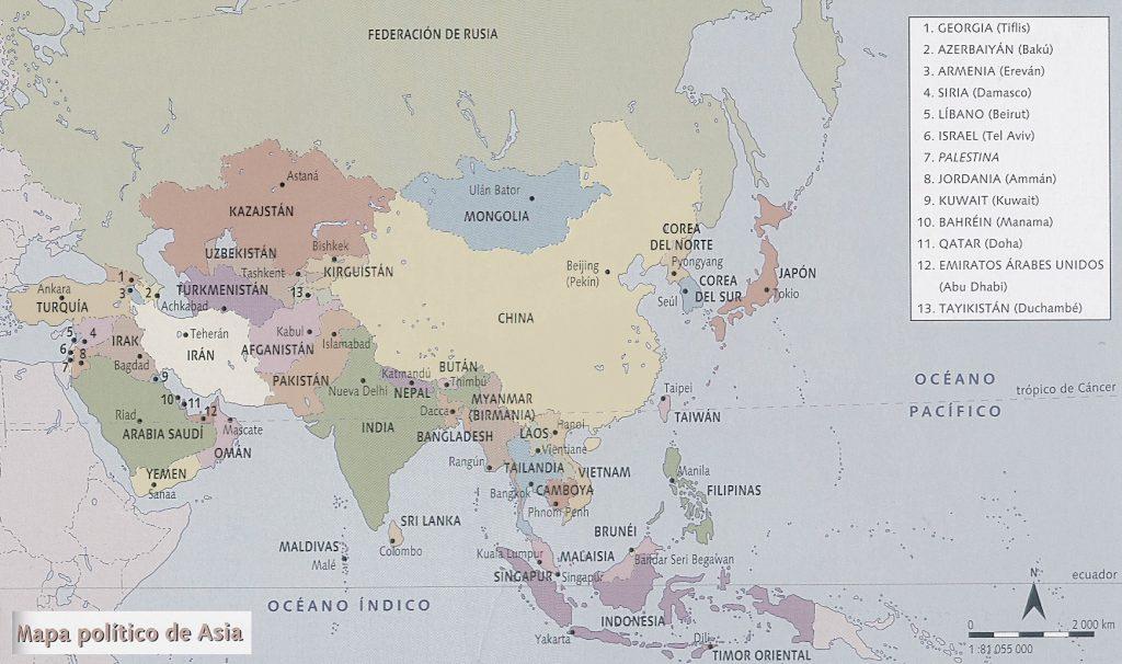 mapa asia politico
