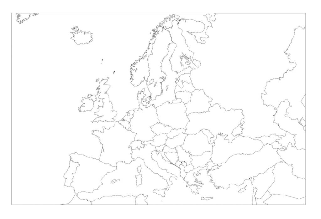 mapa europa blanco sin nombres