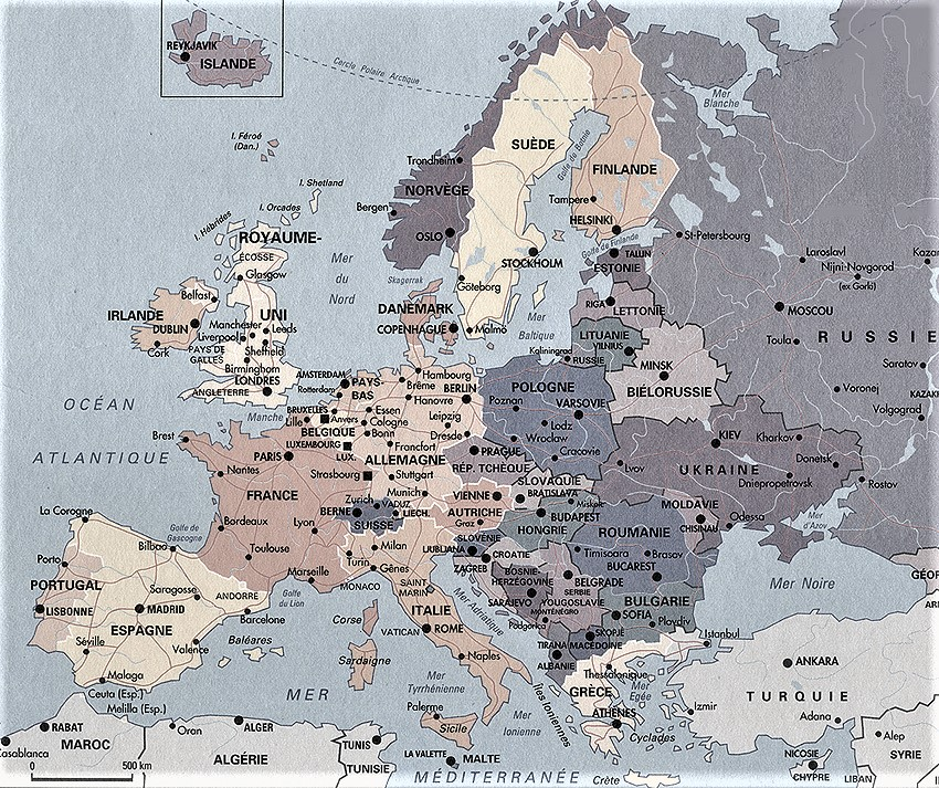 mapa mundi politico europa frances