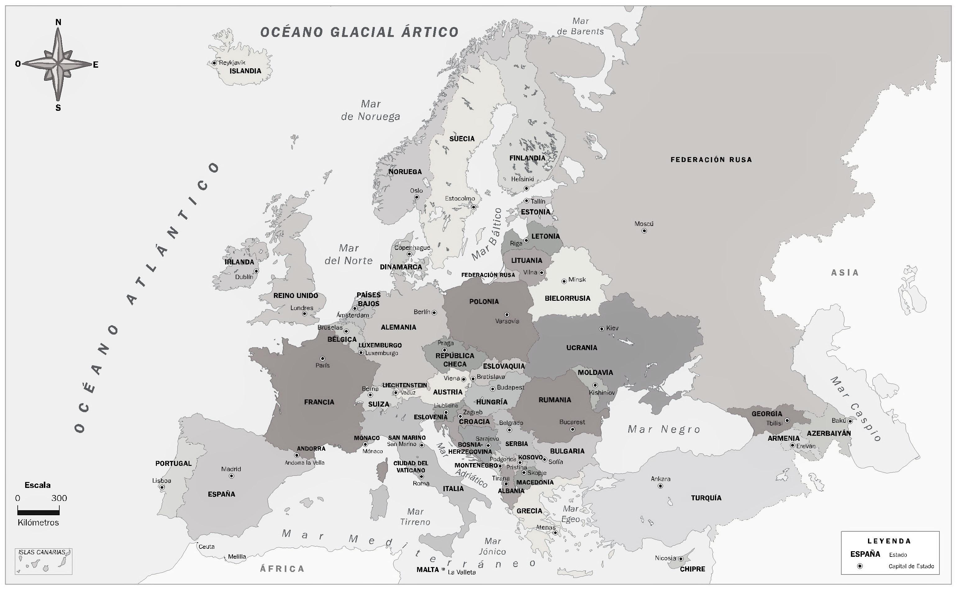 Mapa Mudo Rios Europa Blanco Y Negro.Mapa De Europa Mapamundi Para Imprimir Politico