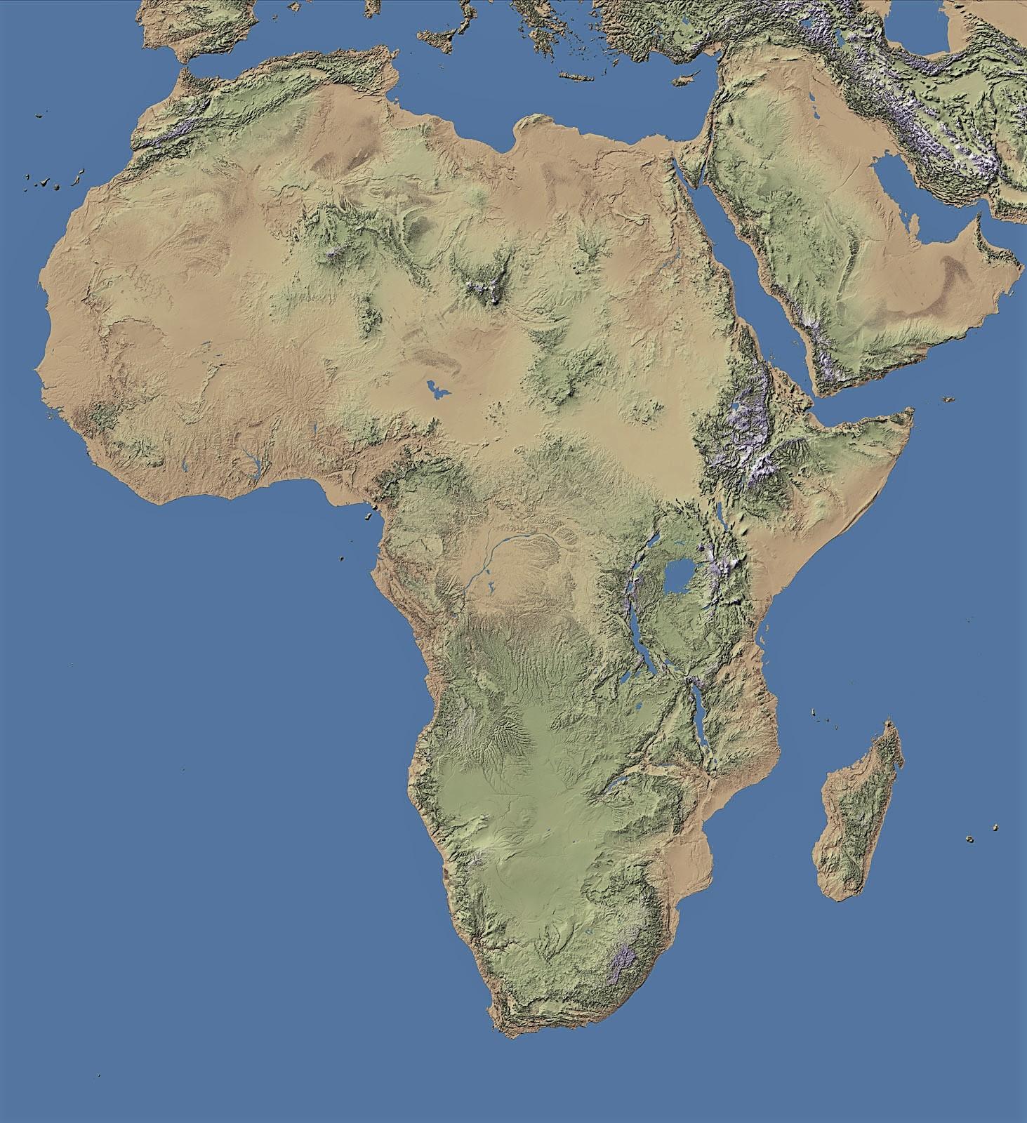 Mapa De áfrica Para Imprimir Político Físico Mudo Continente Africano