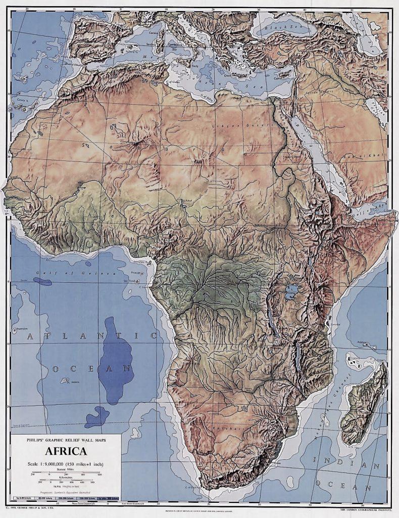 mapa fisico africa