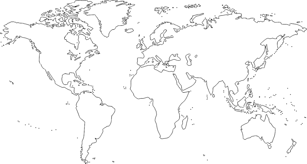 mapa mundi para imprimir