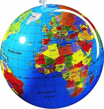 bola del mundo inflable