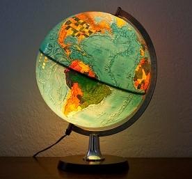 globo terraqueo luz